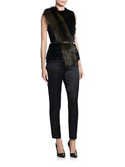Jason Wu - Mink & Fox Fur Mixed-Media Shell