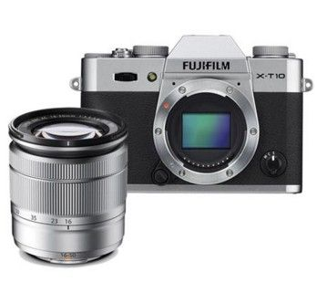 Fujifilm X-T10 Mirrorless Digital Camera Body, with XC 16-50mm F3.5-5.6 OIS Lens - Silver. FUJIFILM X-T10, the latest premium interchangeable lens camera that joins the world-renowned X-Series digital camera line-up. http://www.specssite.com/Cameras/mirrorless/best_mirrorless_camera.html
