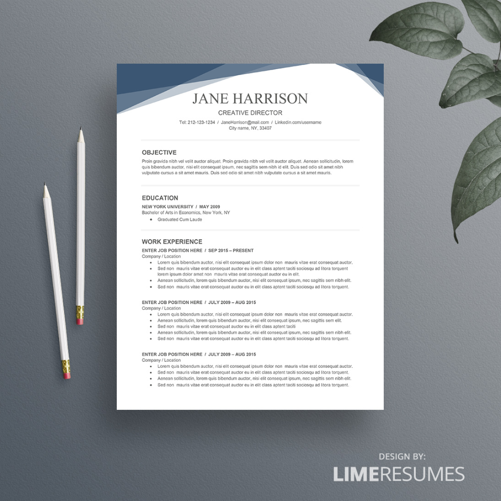 Free Resume Template for Word on Behance in 2020