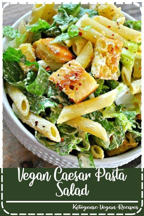 Vegan Caesar Pasta Salad Vegan Caesar Pasta Salad - Rabbit and Wolves