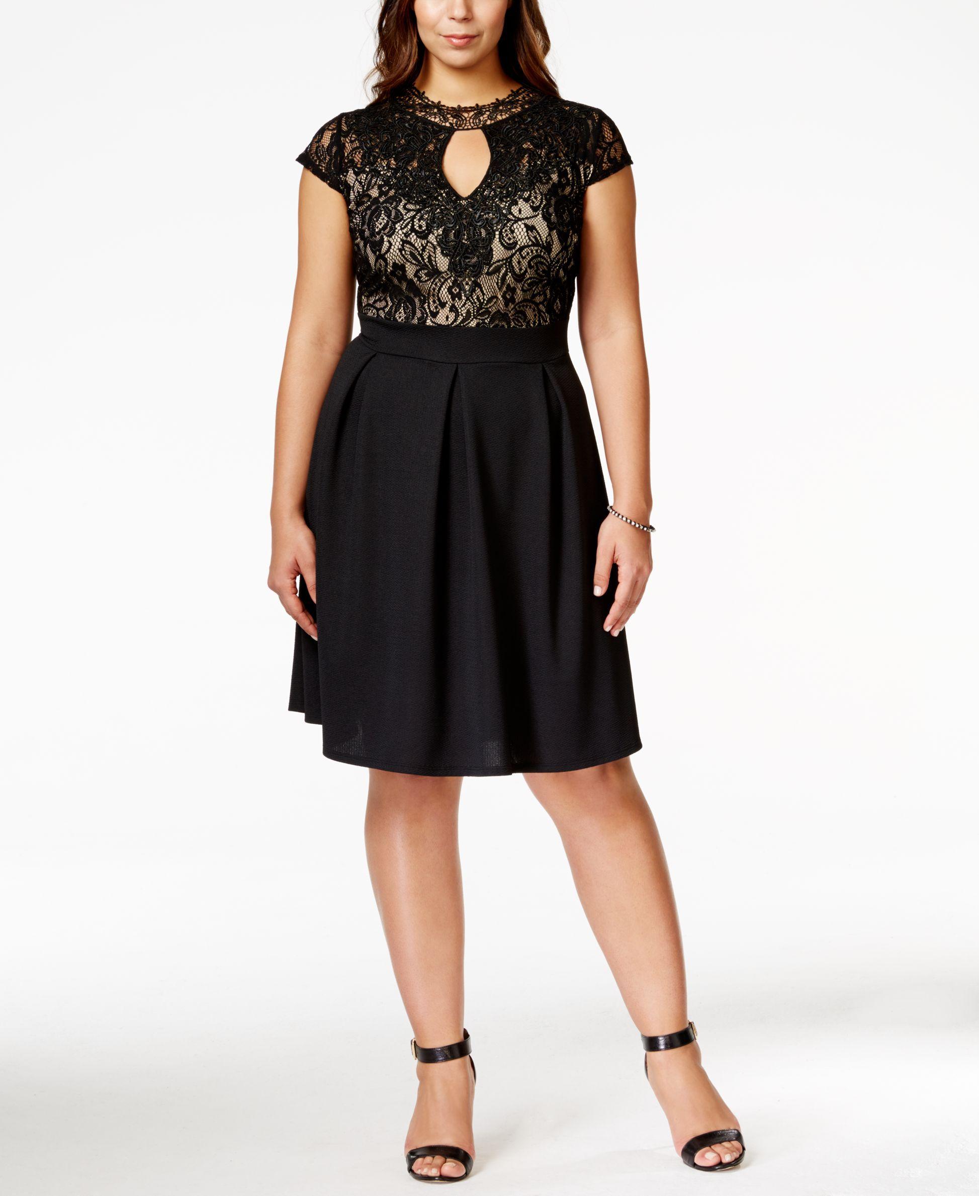 Trixxi plus size shortsleeve lace aline skater dress products