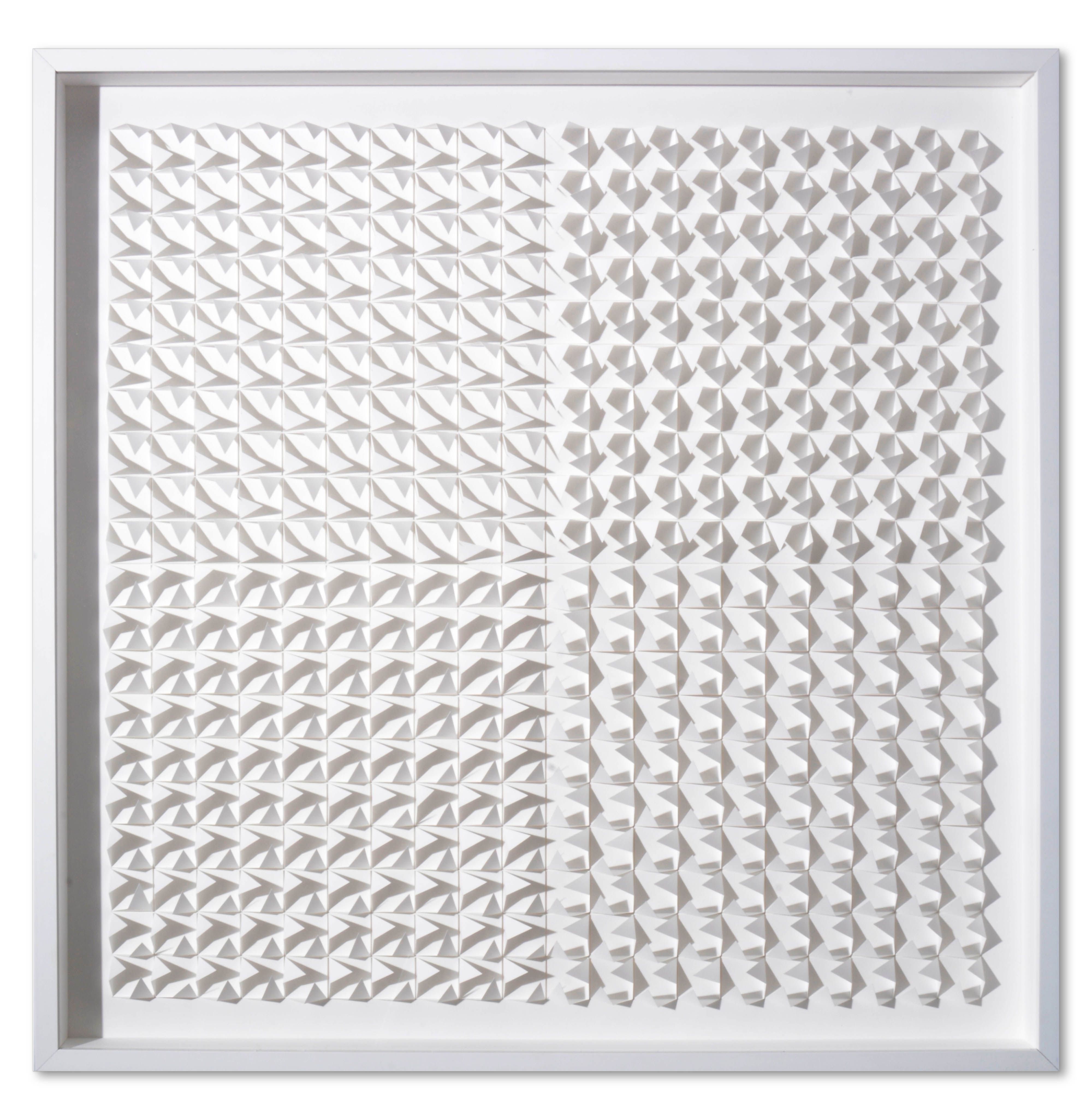 """""""White on White"""" by Gregg Welz, Drawing Paper, 32"""" x 32"""""""