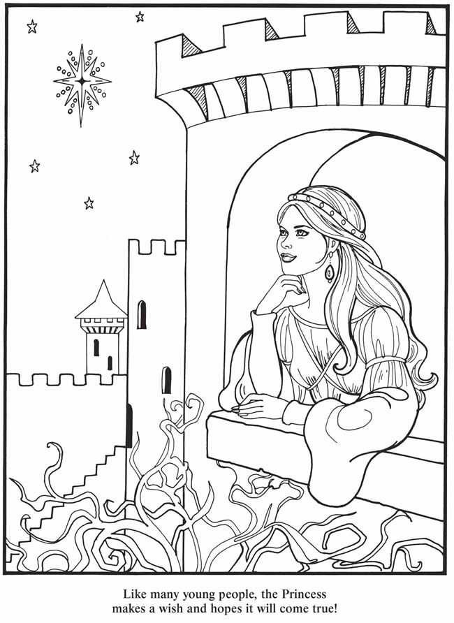Princess Color Page 3 Coloring Book Pinterest Coloring Pages