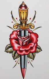Photo of Flowers Tattoo Old School Google 69 Ideas  Flowers Tattoo Old School Google 69 I…