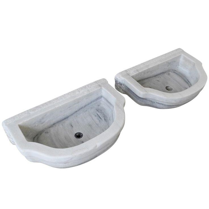 Pair 19th c. Marble Sinks