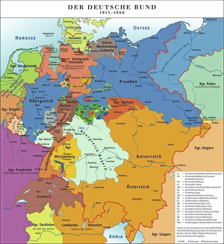 The German States, 1815-1866 | Genealogy | Pinterest | Genealogy ...