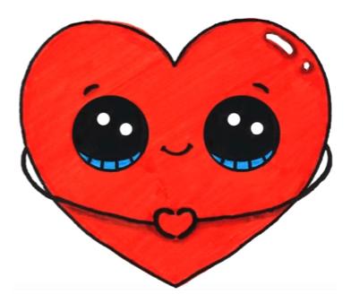 Heart Emoji Cute Kawaii Drawings Cute Heart Drawings Kawaii Doodles