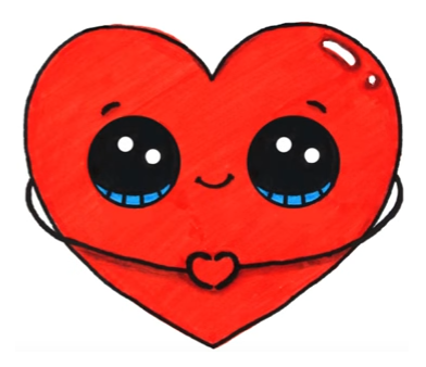 Heart Emoji Sketsa Lucu Gambar