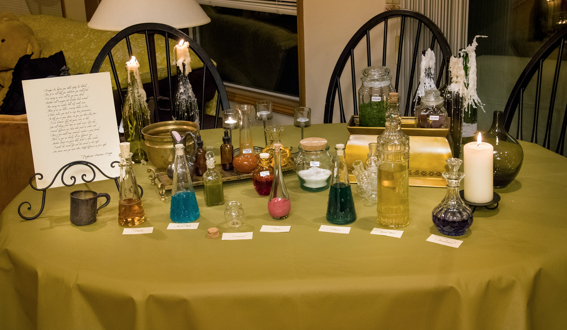 Harry Potter Party Potions Table Snape S Potion Logic