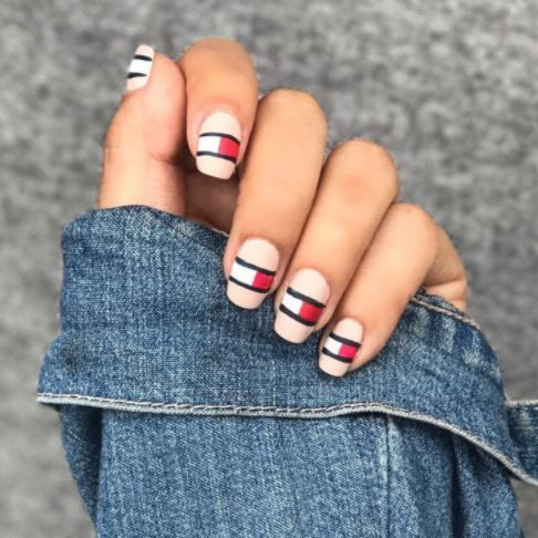 would you wear logo nails peep insta's latest musthave