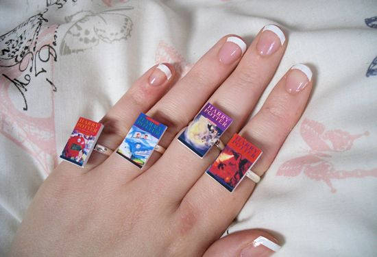 Harry Potter Book Rings
