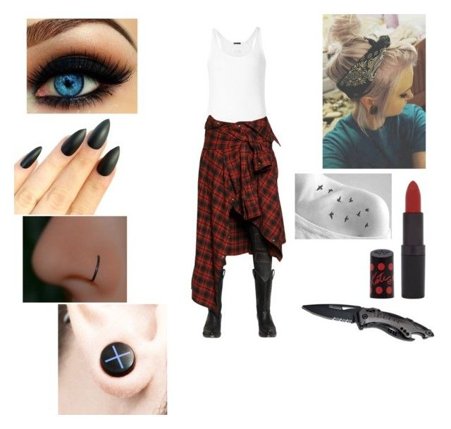"""chb"" by justesslogue-1 ❤ liked on Polyvore featuring ATM by Anthony Thomas Melillo, Faith Connexion and Rimmel"