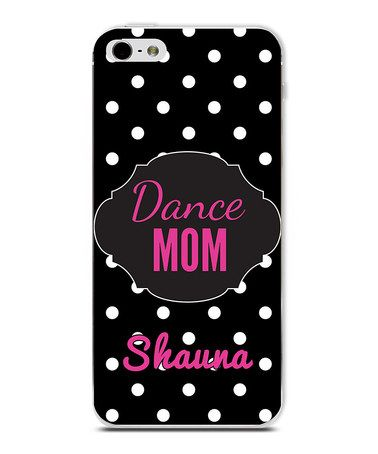 Another great find on #zulily! Black 'Dance Mom' Personalized Phone Case #zulilyfinds
