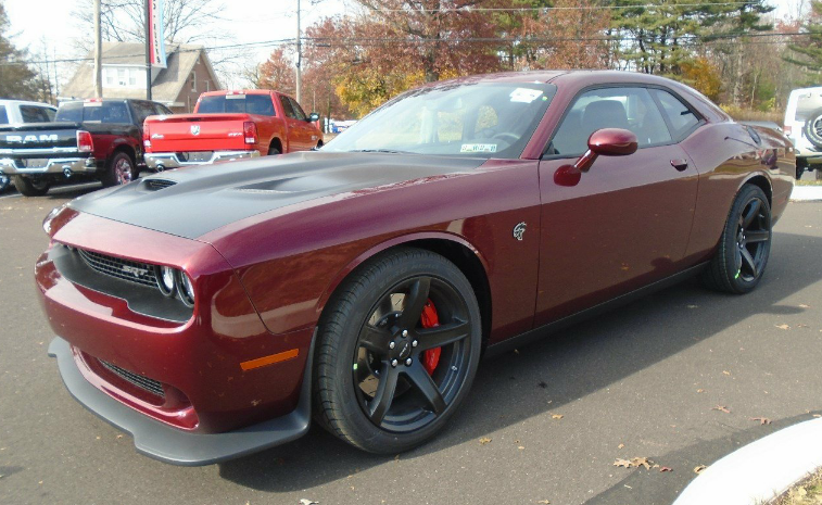 2017 Dodge Challenger SRT Hellcat in Octane Red with the optional ...