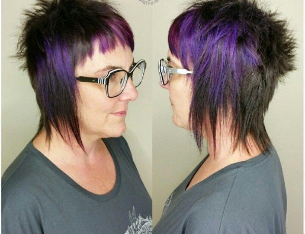 Black And Purple Punk Rock Avant Garde Haircut
