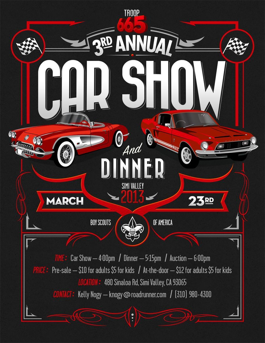 Car Show Flyer Template Car Show Free Cars Classic Car Show