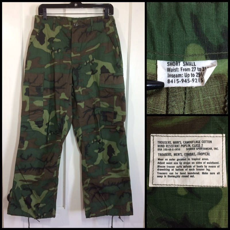1e623b992db8f Excited to share the latest addition to my #etsy shop: 1960s 1968 Vietnam  War camouflage green brown black field trouser size small short all cotton  ripstop ...