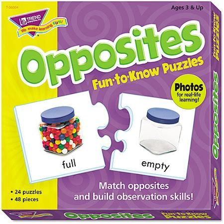 Trend, TEPT36004, Fun-to-Know Opposites Puzzles, 1 Each
