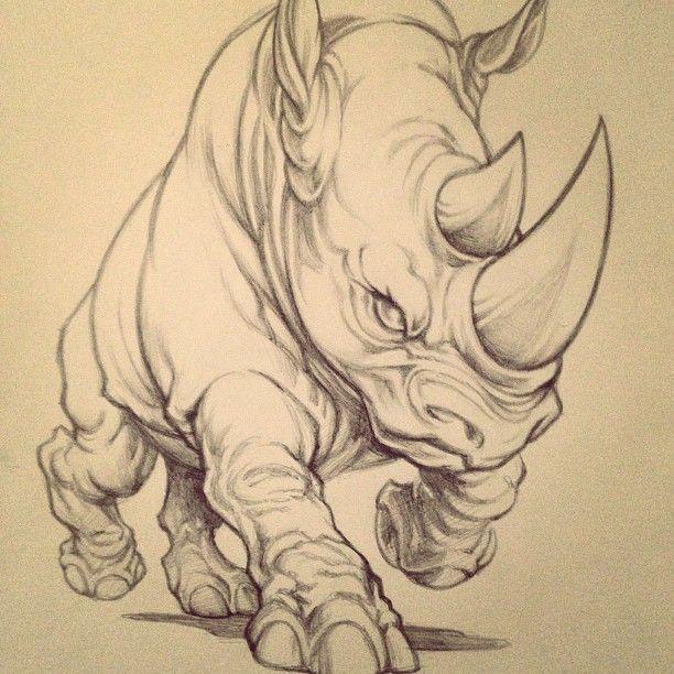original art from behind the scenes what do you think rhino ecko rh pinterest com Tribal Rhino Tattoo rhino beetle tattoo meaning