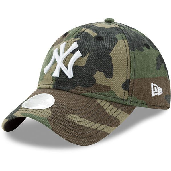 fbaa110b000 Women s New York Yankees New Era Camo Preferred Pick 9TWENTY Adjustable Hat