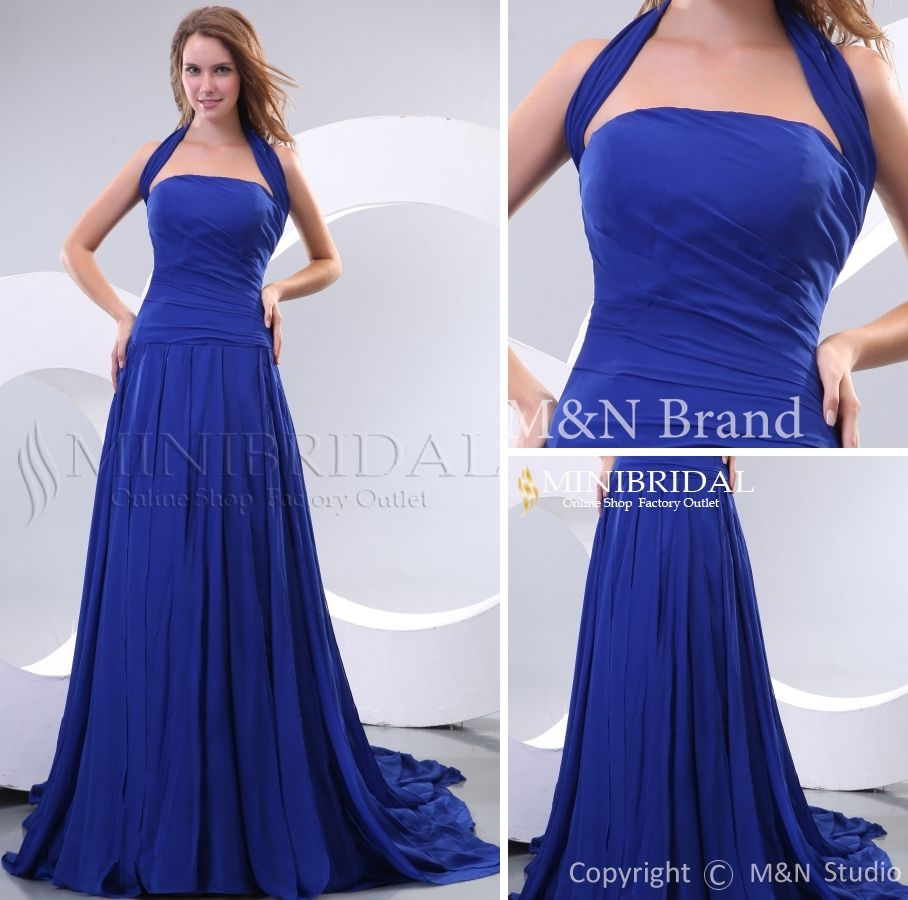 Blue+Long+Bridesmaid+Gowns | ... Floor-length Sleeveless Royal ...