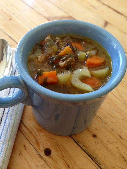 mushroom barley soup ~vegan~ Foods to fight the flu!