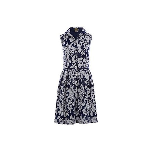 Navy Voile Sleeveless Shrit Dress niebieski Tk Maxx  tkmaxx