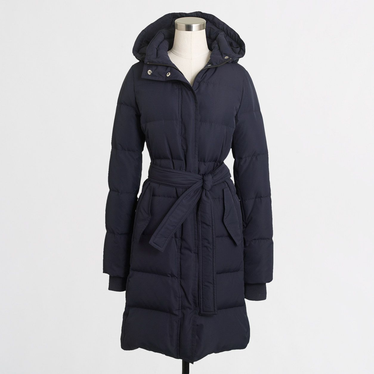 1ca5834a1 Factory long belted puffer jacket : Outerwear | J.Crew Factory ...