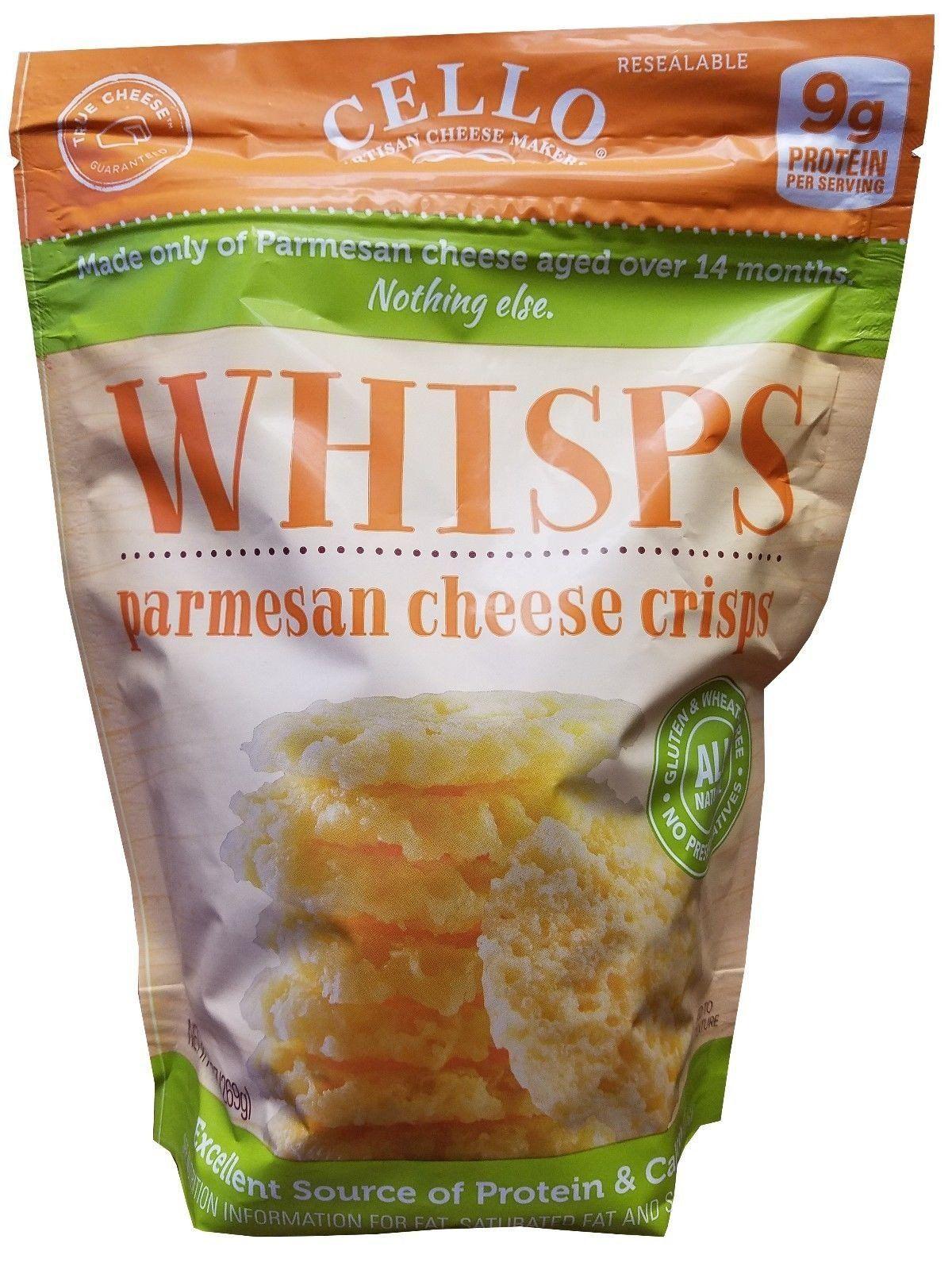 e0fa53b6a0c0e Cello Whisps Parmesan Cheese Crisps Artisan Cheese Snack Food 9.5 oz ...