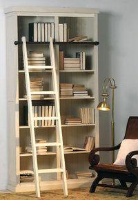 Librero escalera toscana blanco el rastrillo deco for Librero escalera