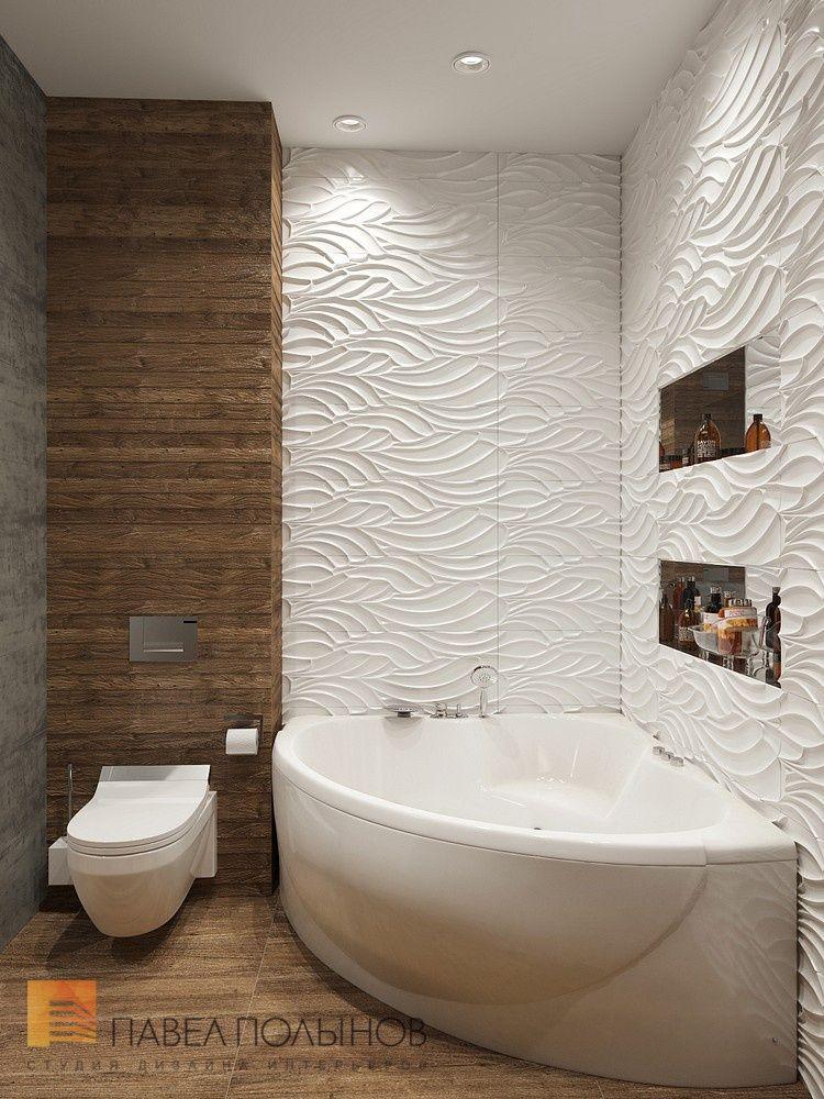 Дизайн ванной комнаты в современном стиле, дом в Сестрорецке