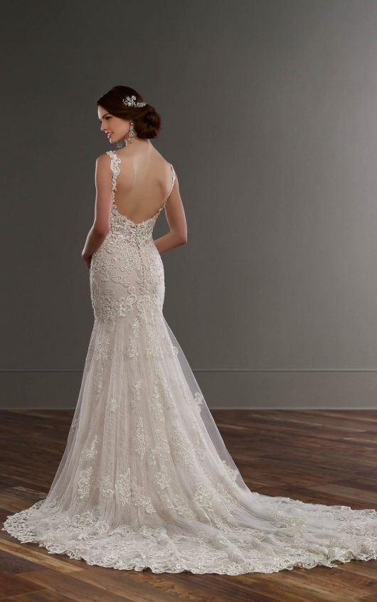 Low back wedding dress with beaded lace martina liana wedding 817 low back wedding dress with beaded lace by martina liana junglespirit Gallery