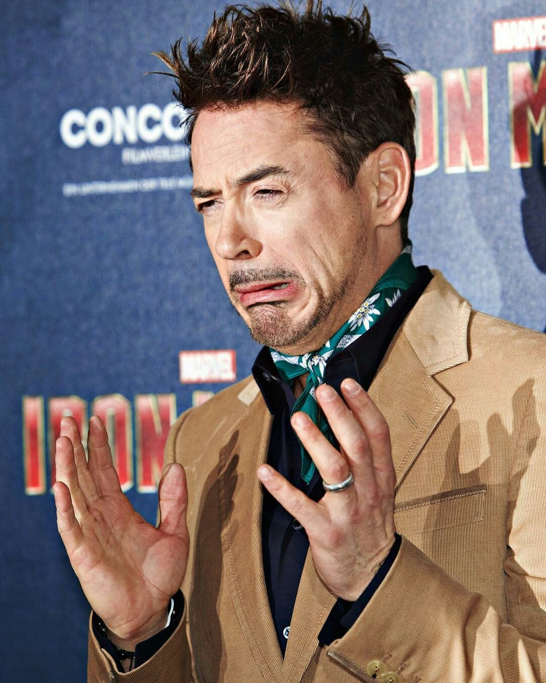RDJ. What were you thinking about? Lol Robert downey jr