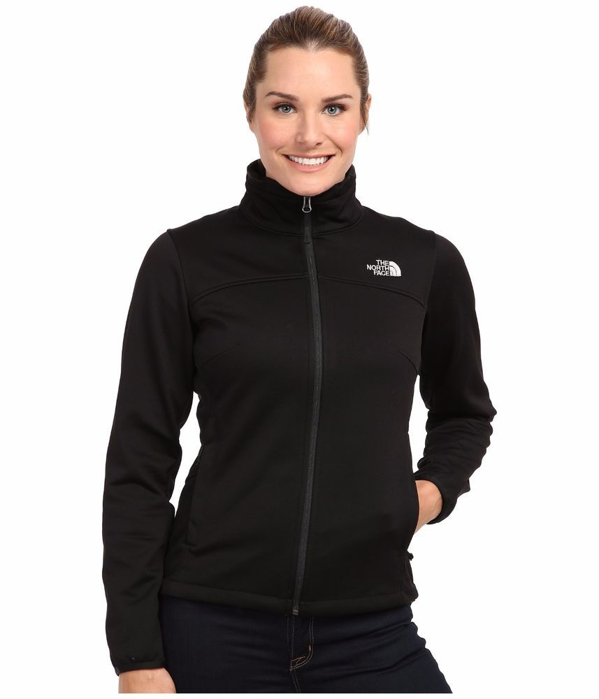 39a311faae ❄️Women s The North Face Canyonwall Soft Shell Jacket Zip Coat Black S