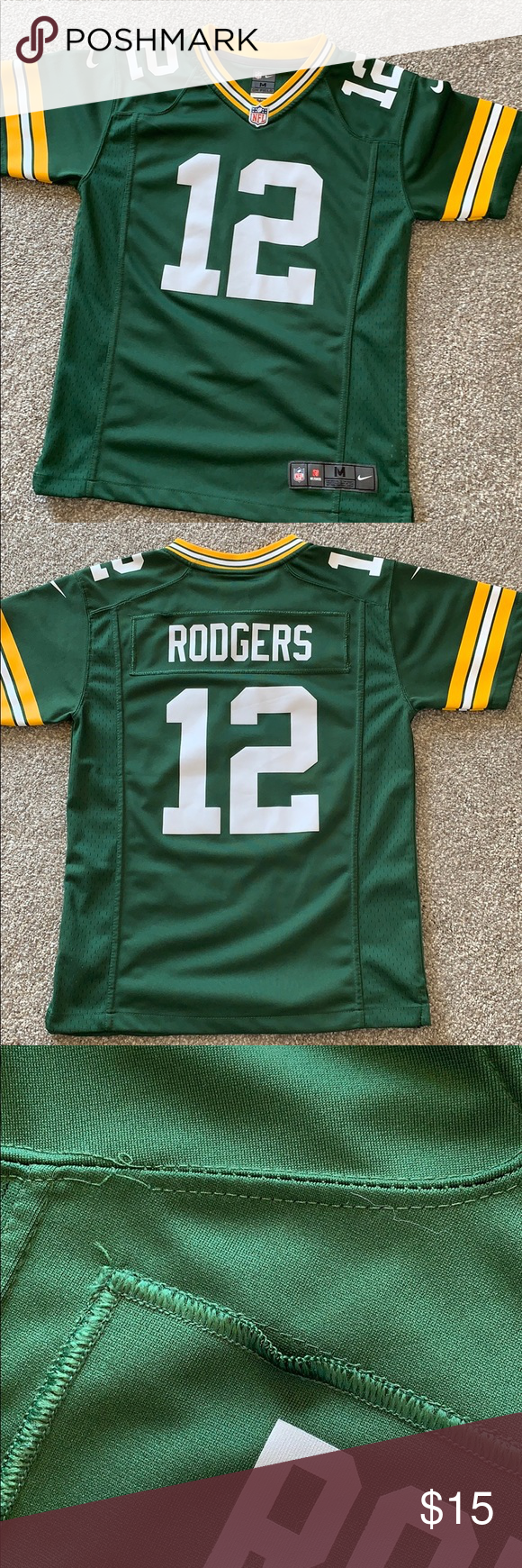 Aaron Rodgers Jersey Excellent Condition With The Exception Of A Few Threads Coming Loose In The Back Nike Nfl Shirts Tops Aaron Rodgers Jersey Nfl Shirts