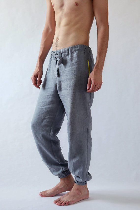 3fbf217ae2 Natural mens linen pants Summer pants Linen pants Mens trousers ...