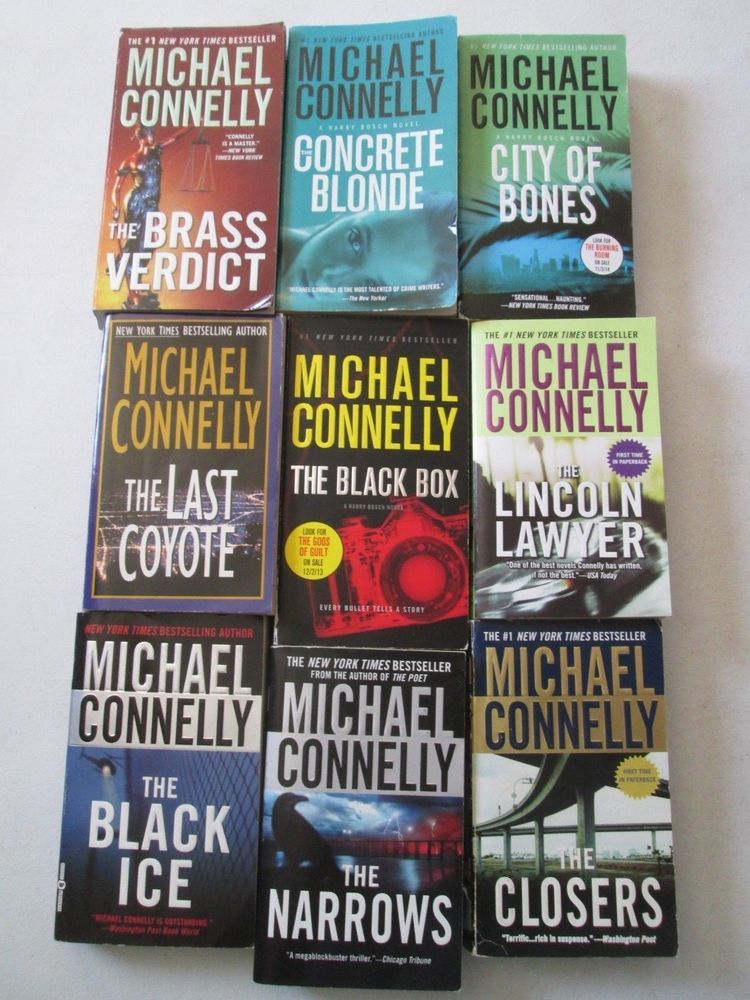 Michael connelly lot of 9 paperbacks detective harry bosch