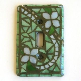 Dress up lightswitch covers to match room color with mosaics