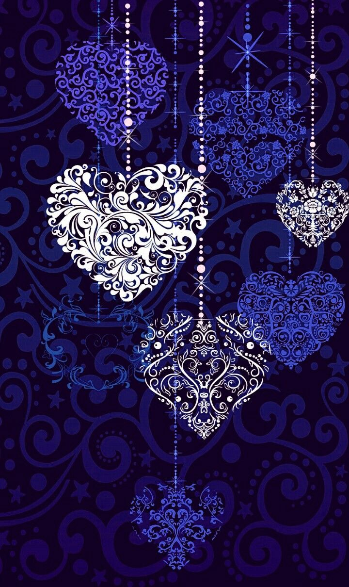 Blue And White Bobbles Cute Wallpapers Cute Wallpaper For Phone Heart Wallpaper