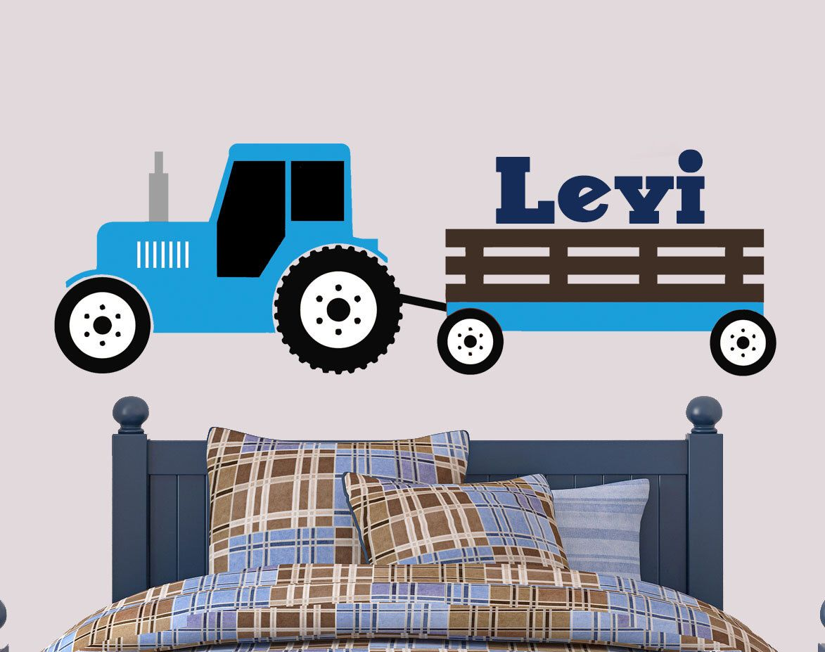 Tractor Wall Decal Ford Inspired Wall Decal Boys Bedroom Decal