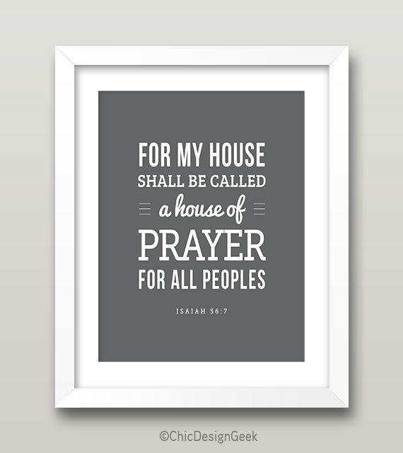 Isaiah 567 House Of Prayer Bible Verse Diy Christian Printable