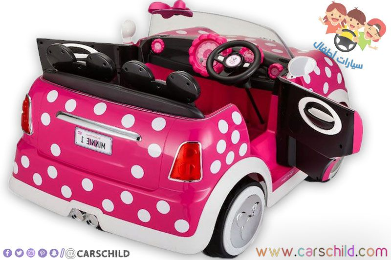 سيارات بنات Minnie Mouse Easter Basket Wood Doors Interior Toy Car