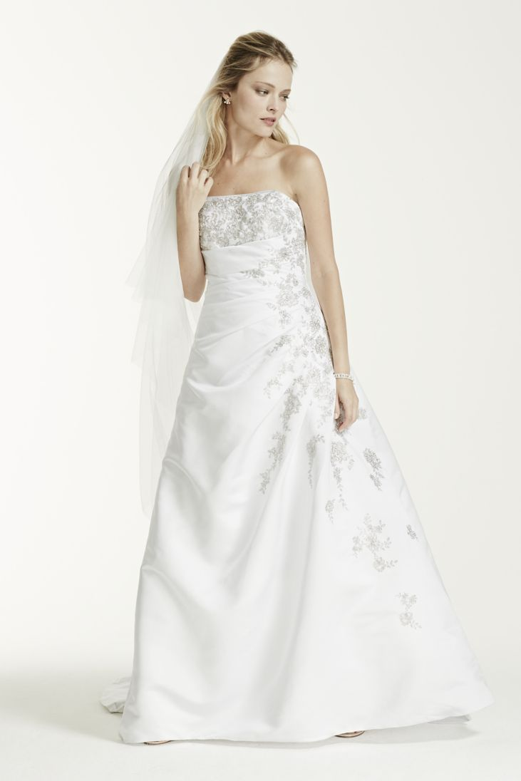 Strapless A Line Wedding Gown