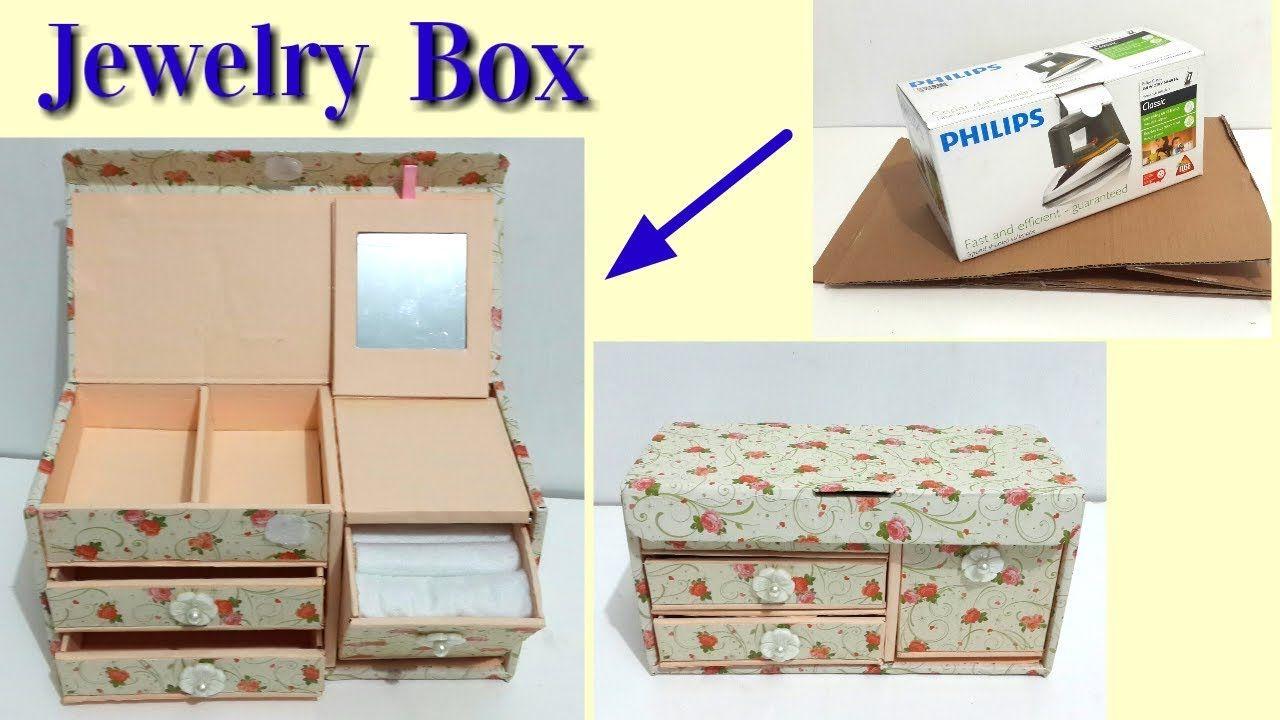 Comment Fabriquer Une Télé En Carton diy jewelry box dari kardus bekas - youtube   kardus, kotak