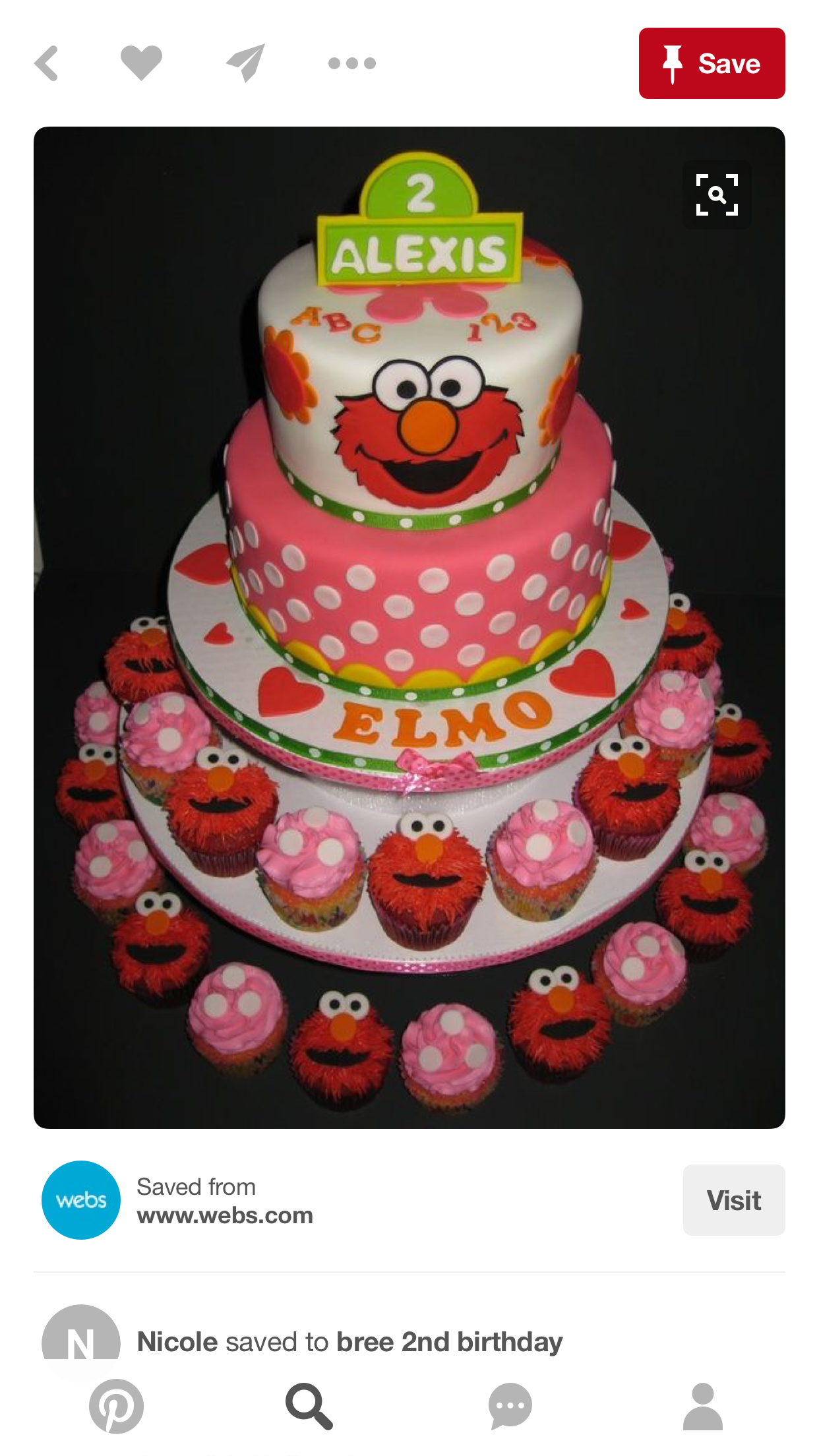 Pin By Trisha Brooks Vesely On Olivia S 1st Birthday Elmo