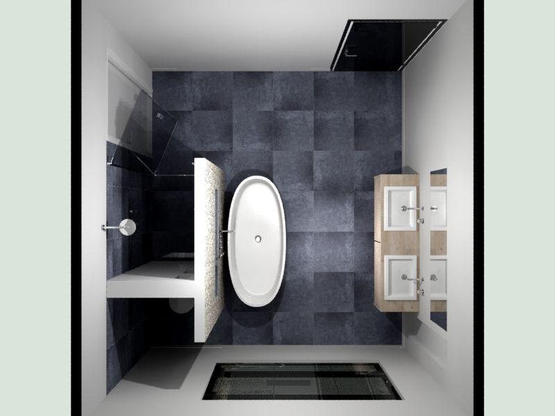 Badkamer indeling voorbeeld / De - Badkamer en Badkamers