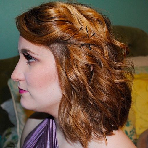 Just add waves to transform medium hair for a formal event. | Medium hair styles, Hair styles ...