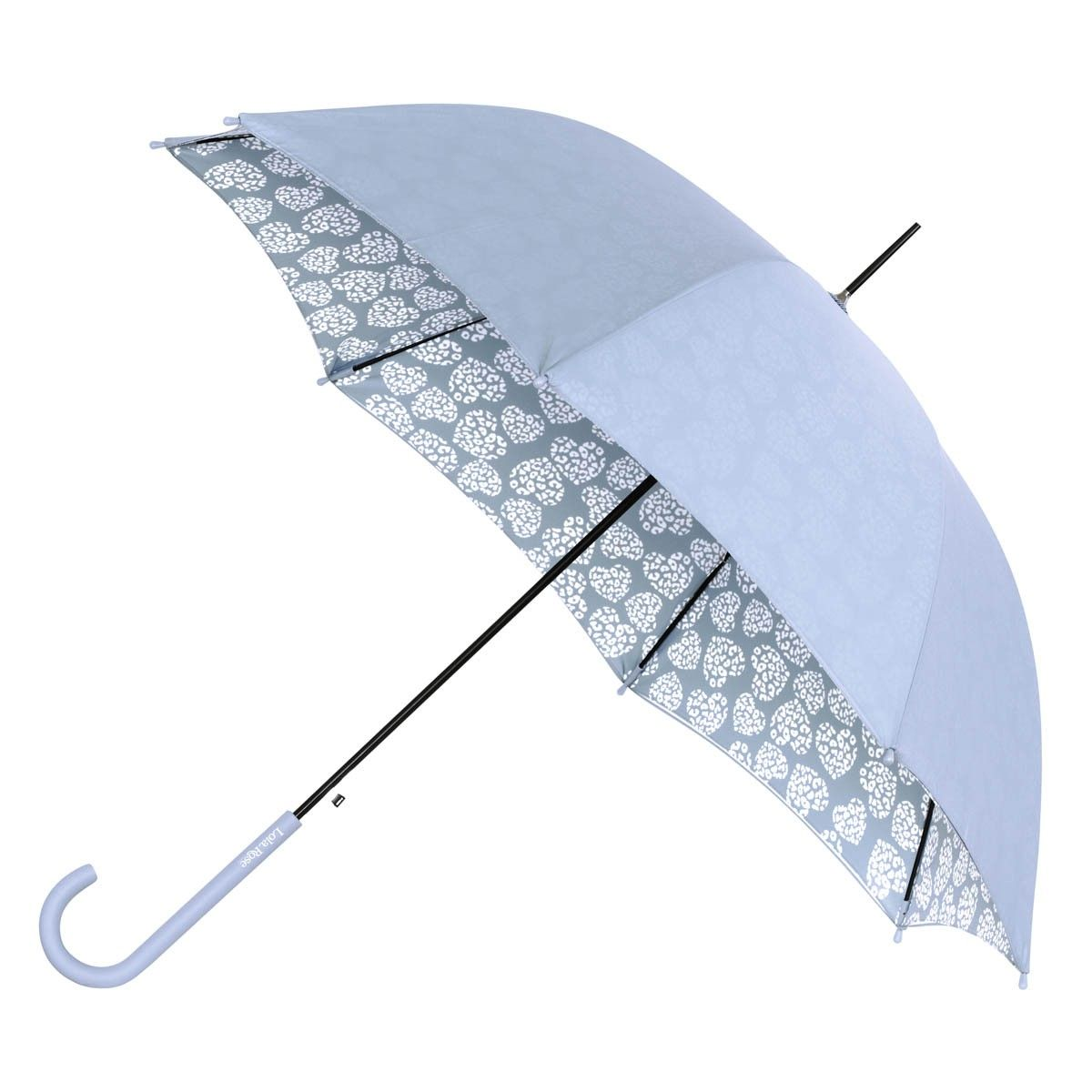 Lola Rose Leopard Heart Print Walker Umbrella In Dusky Blue Umbrella Blue Umbrella Under My Umbrella