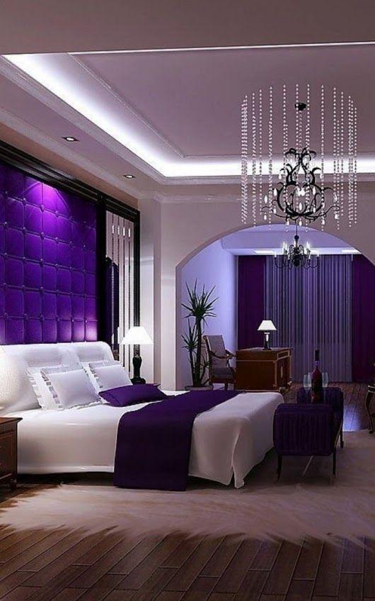 Room Decor Bedroom Couple Purple