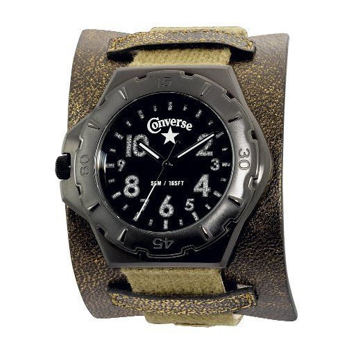 Converse Men's VR006700 Bootleg Culture Gold-Tone Strap Watch Converse